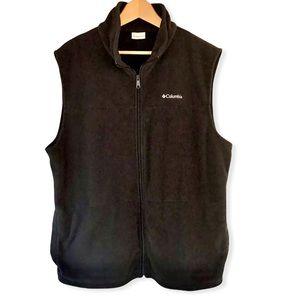 COLUMBIA   Black Fleece Zip-Up Vest XL